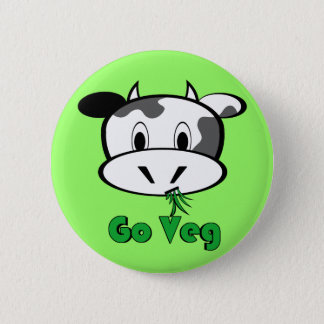 Cow Go Veg 2 Inch Round Button