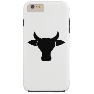 Cow Head Silhouette Tough iPhone 6 Plus Case