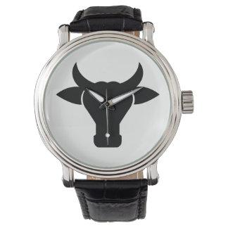 Cow Head Silhouette Watch