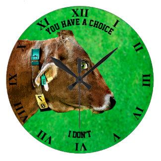 Cow Head With Human Eye Anti Meat Vegan Large Clock