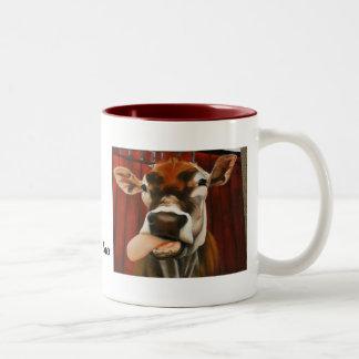 cow, Here A Moo There A Moo Two-Tone Coffee Mug