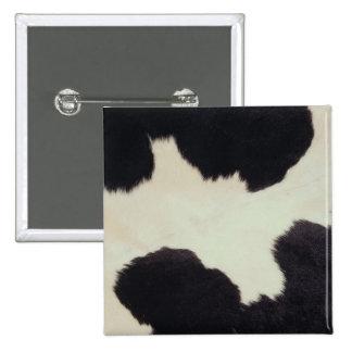 Cow Hide 2 Inch Square Button