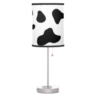 Cow hide animal print desk lamp
