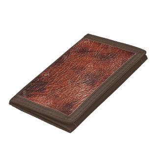 Cow Hide Leather Look Trifold Wallets