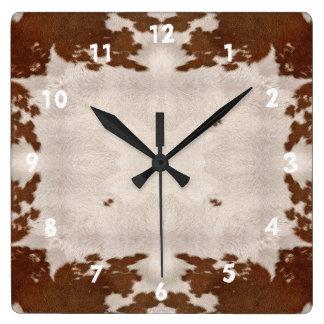 Cow Hide Pattern clock