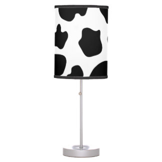 Cow hide pattern table lamp | Farm animal print