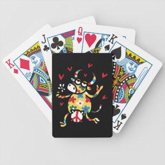 Cow Hippie Poker Deck