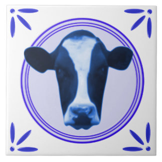 Cow Holland Delftware-Delft-Blue-Look Printed Tile