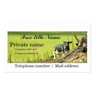 Cow horusutain black and white business card