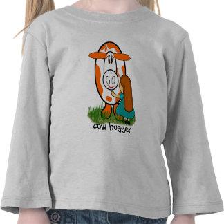 cow hugger - Customized Tee Shirts