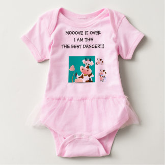 COW HUMOUR FOR BABY GIRLS BABY BODYSUIT