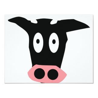"""cow icon 4.25"""" x 5.5"""" invitation card"""