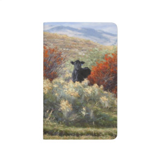 Cow in Fall Setting Pocket Journal