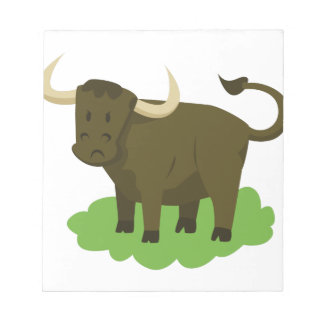 cow in the grass notepad