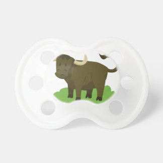 cow in the grass pacifier
