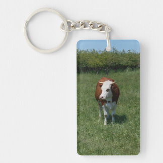Cow In The Pasture Keychain