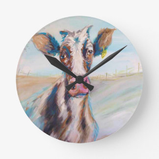 Cow in the Pasture Wallclocks