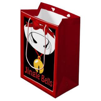 Cow Jingle Bell Christmas Sml GB Medium Gift Bag