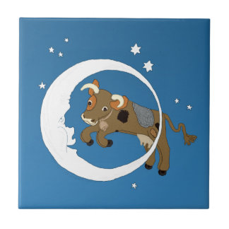 Cow Jumped Over the Moon Tile