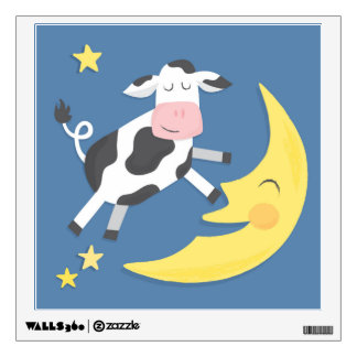 Cow Jumped Over the Moon Wall Decal
