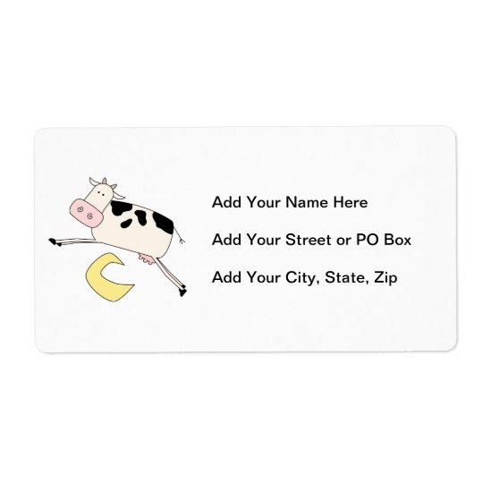 Cow Jumps Over Moon Shipping Label