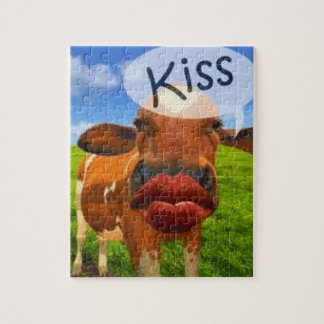 Cow kiss! Cute and entertaining! Puzzle