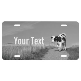 Cow License Plate
