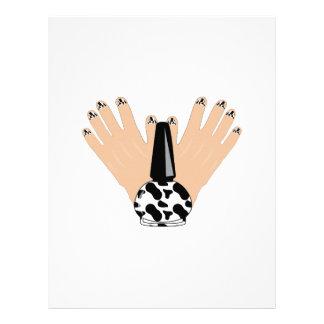 Cow Manicure Custom Letterhead