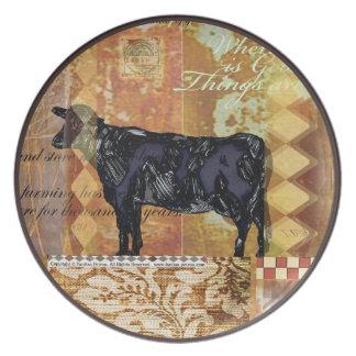 Cow - Melamine Plate