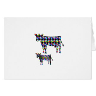 COW milk animal domestic dot navinJOSHI NVN91 FUN Card
