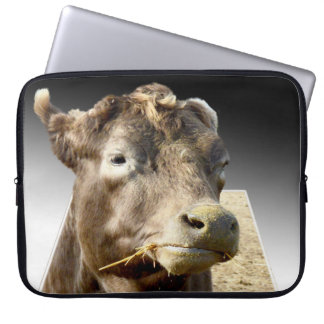 Cow_Munching_Hay,_15_Inch_Laptop_Cover Laptop Sleeve