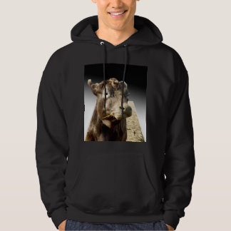 Cow Munching On Hay, Hoodie
