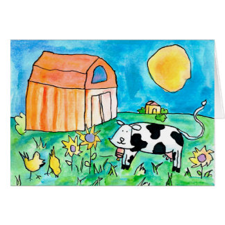 Cow • Nick Abrams, Age 15 Card