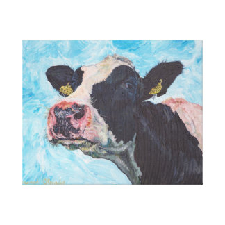 Cow no 03. 0556 Irish Fresian Cow Canvas Print