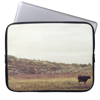 Cow old laptop sleeve