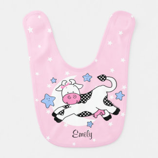 Cow Over Moon Baby Baby Bib