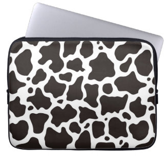 Cow pattern background computer sleeve
