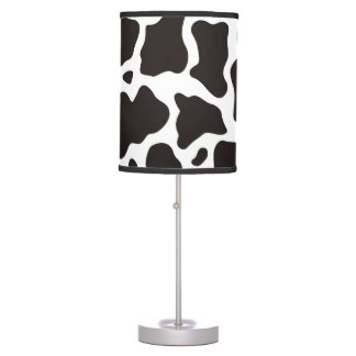 Cow pattern background desk lamp