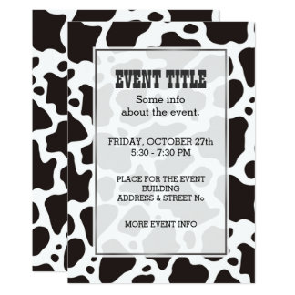 Cow pattern background Invitation