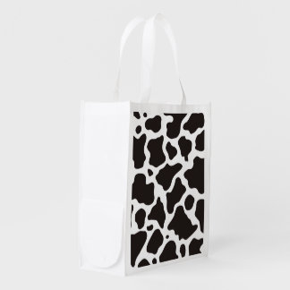Cow pattern background market tote