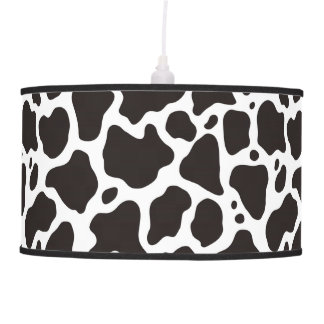 Cow pattern background pendant lamps