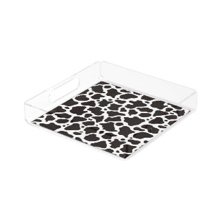 Cow pattern background perfume tray