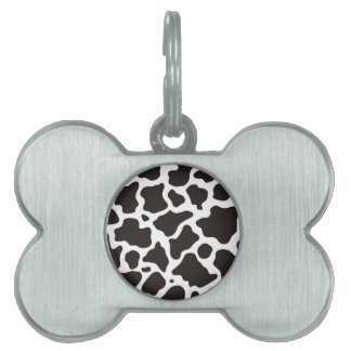 Cow pattern background pet tags