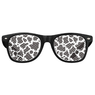 Cow pattern background retro sunglasses