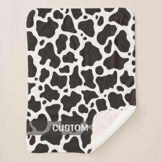 Cow pattern background sherpa blanket