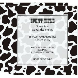 Cow pattern background Square Invitation