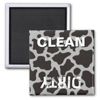Cow pattern background square magnet