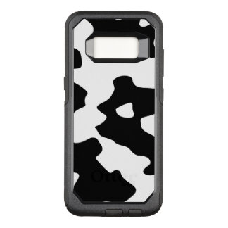 Cow Pattern Black and White OtterBox Commuter Samsung Galaxy S8 Case
