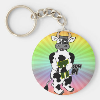 COW Pi 3.14  CELEBRATE Pi DAY Keychain