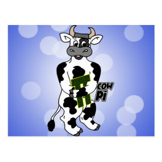 COW Pi 3.14  CELEBRATE Pi DAY Postcard